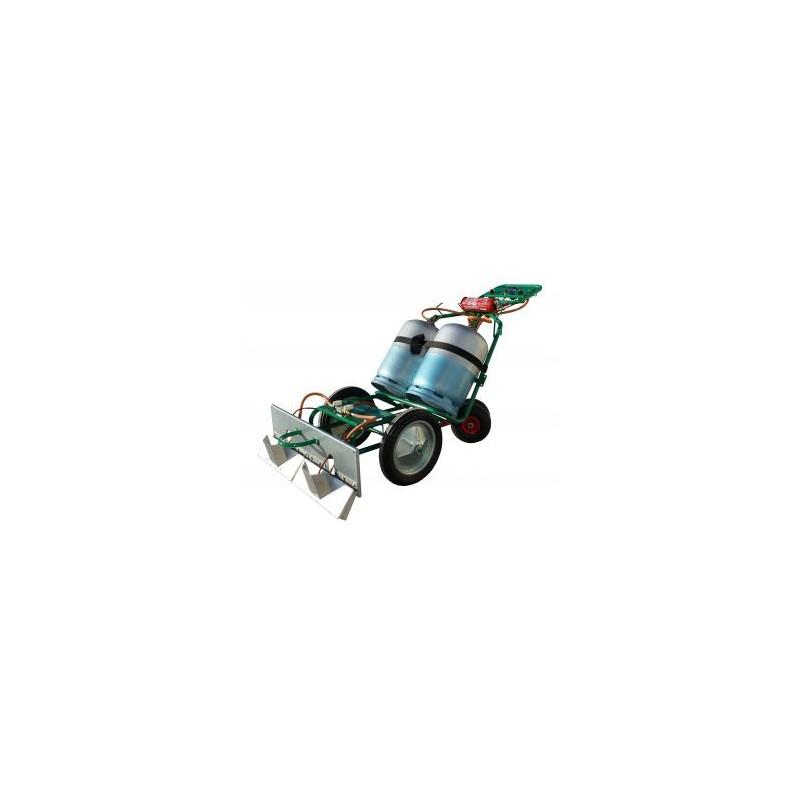 Desherbeur thermique sur chariot