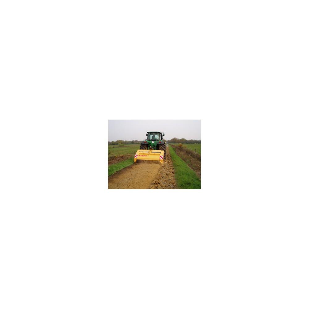 broyeur de pierre sur tracteur 300 cv l 2 000 mm